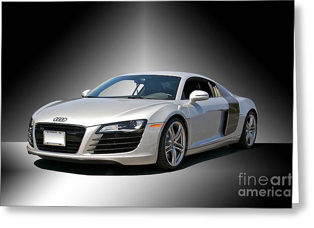 Rally Greeting Cards - Audi Silver Fox R8 II Greeting Card by Dave Koontz