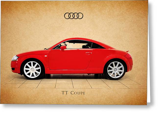Transportation Greeting Cards - Audi TT Coupe Greeting Card by Mark Rogan