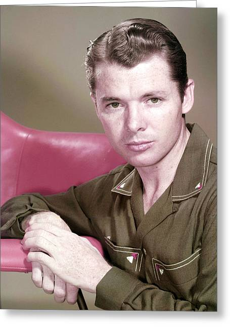 Murphy Greeting Cards - Audie Murphy in To Hell and Back  Greeting Card by Silver Screen