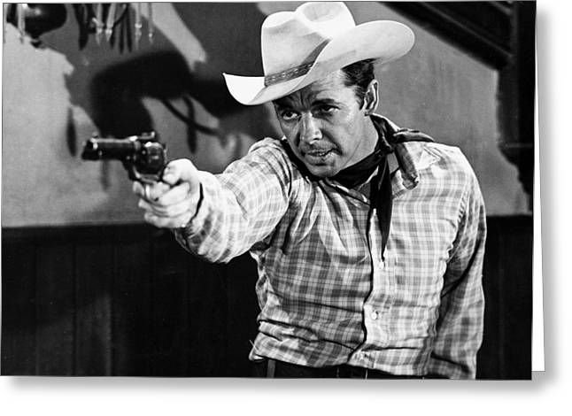 Murphy Greeting Cards - Audie Murphy Greeting Card by Silver Screen
