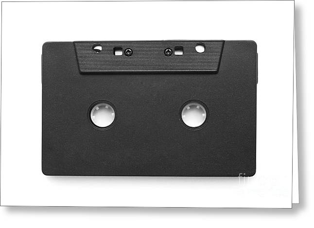Dubbing Photographs Greeting Cards - Audio cassette tape Greeting Card by Cristian M Vela