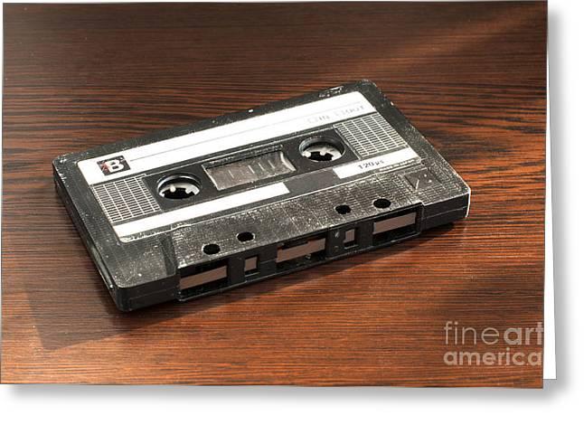 Casette Greeting Cards - Audio tape cassette  Greeting Card by Deyan Georgiev