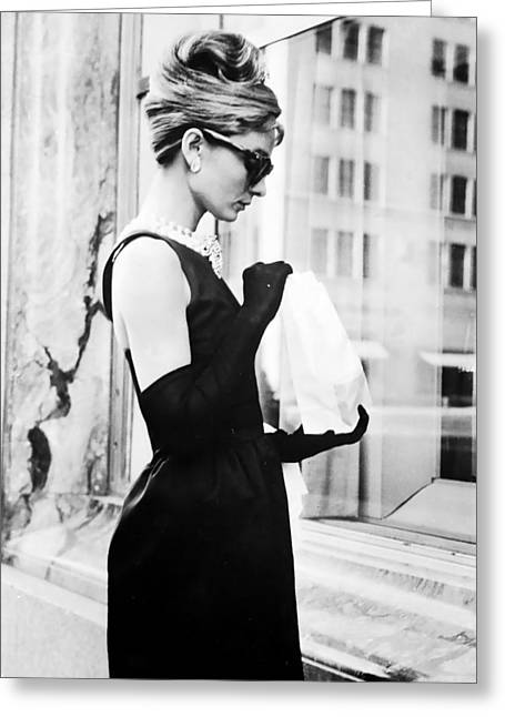 Human Being Photographs Greeting Cards - Audrey at Tiffanys Greeting Card by Nomad Art And  Design
