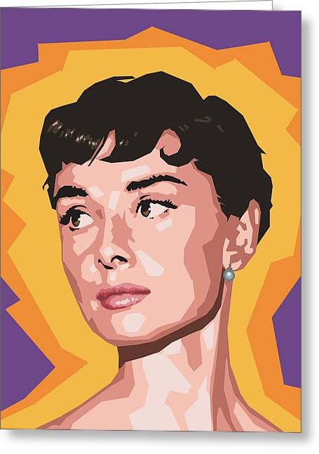 Audrey Greeting Card by Douglas Simonson