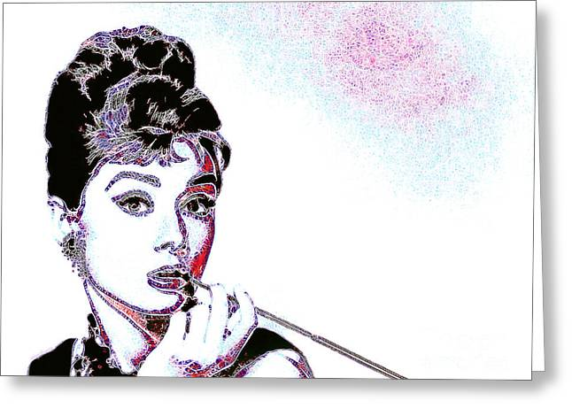 Audrey Hepburn 20130330 Greeting Card by Wingsdomain Art and Photography