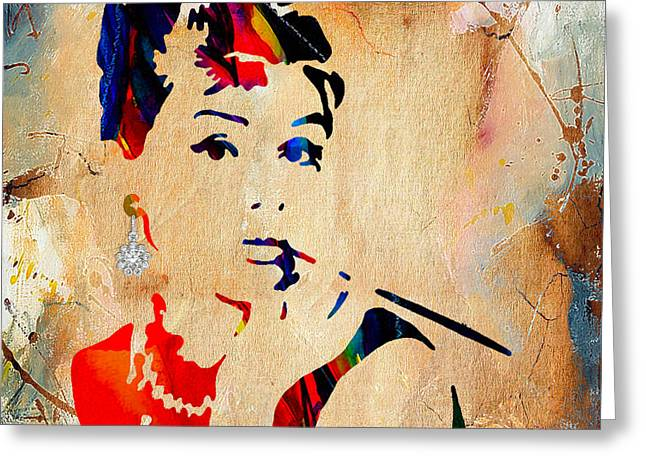 Audrey Hepburn Greeting Cards - Audrey Hepburn Collection Greeting Card by Marvin Blaine