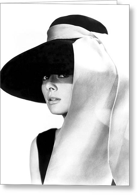 Audrey Hepburn Greeting Card by Daniel Hagerman