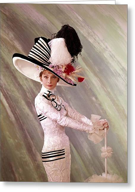 Human Being Photographs Greeting Cards - Audrey Hepburn in My Fair Lady Greeting Card by Nomad Art And  Design