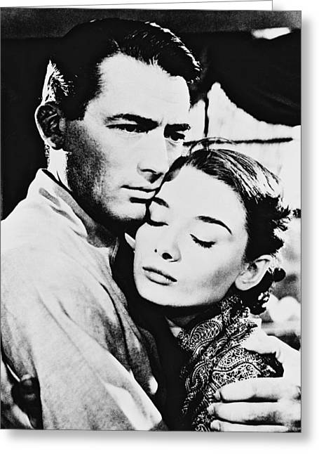 Roman Photographs Greeting Cards - Audrey Hepburn in Roman Holiday  Greeting Card by Silver Screen