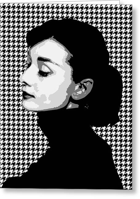 Pater Greeting Cards - Audrey Hepburn Greeting Card by Mihaela Pater