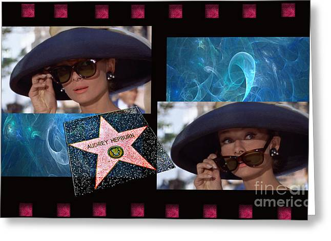 1953 Movies Greeting Cards - Audrey Hepburn Star Quality Greeting Card by Tammera Malicki-Wong