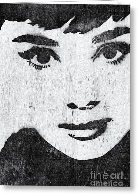 British Celebrities Photographs Greeting Cards - Audrey Hepburn Greeting Card by Tim Gainey