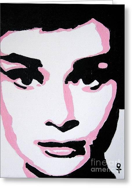 Audrey Hepburn Greeting Card by Venus