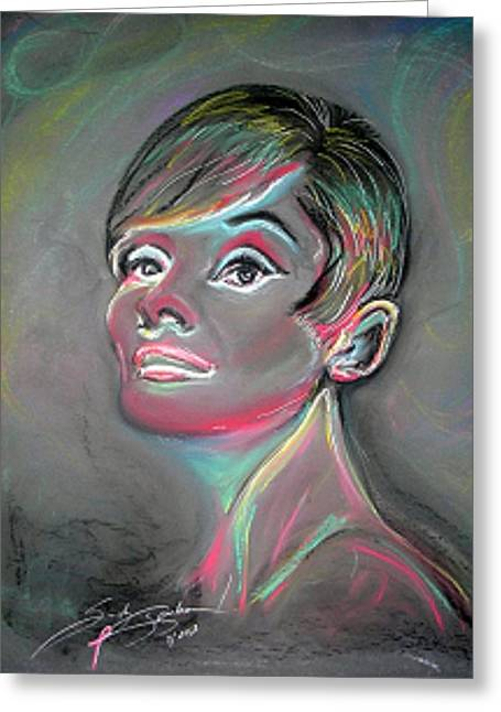 Bright Pastels Greeting Cards - Audrey Greeting Card by Sandy Sparks
