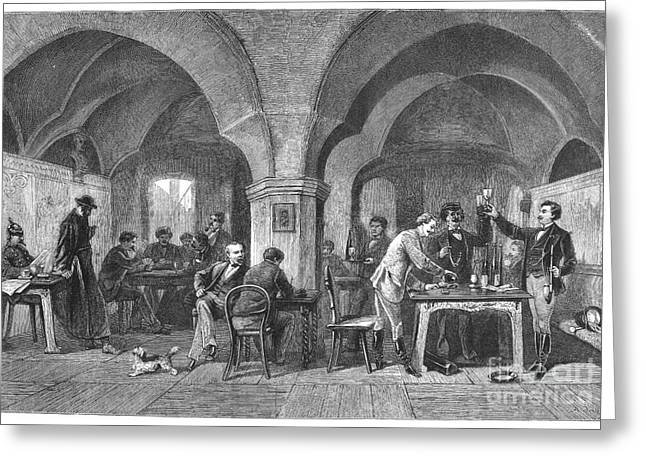 Toast Greeting Cards - Auerbachs Cellar, 1875 Greeting Card by Granger