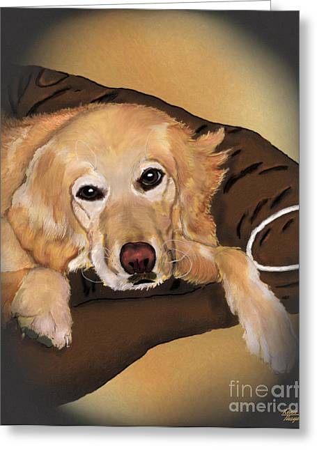 Best Friend Greeting Cards - Auggie Doggie Greeting Card by Charles Thayer