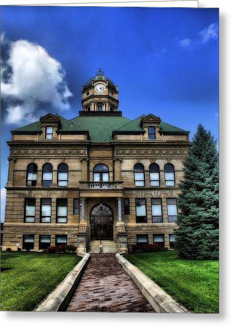 M Court Greeting Cards - Auglaize County Courthouse In Ohio Greeting Card by Dan Sproul