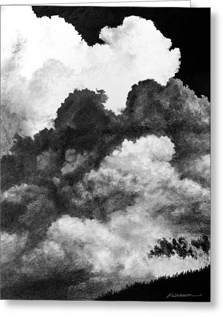 Summer Storm Drawings Greeting Cards - August 27 Greeting Card by Doug Fluckiger