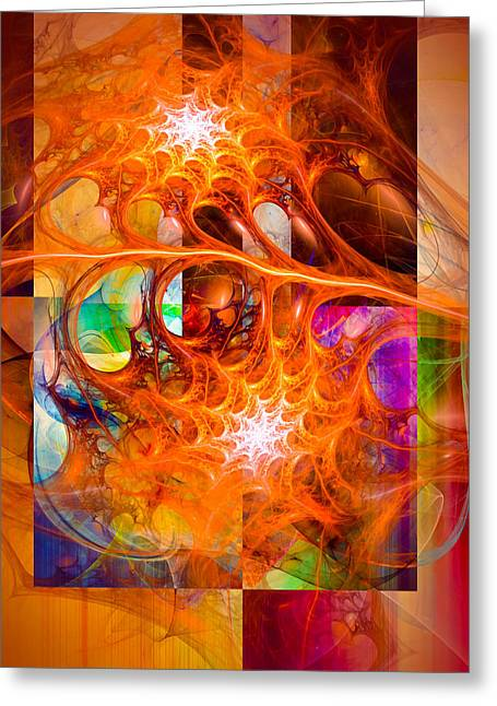 Science Greeting Cards - August Chill Greeting Card by Modern Art Prints