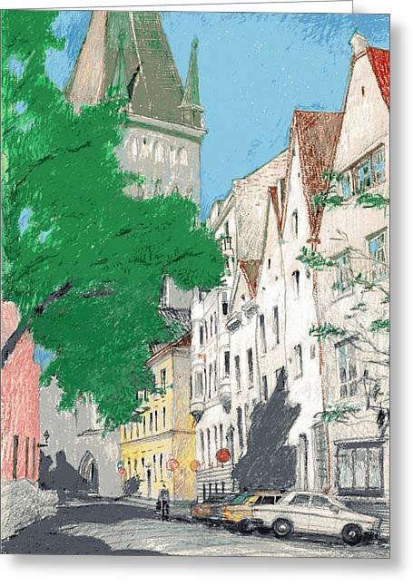 Tallinn Greeting Cards - August Day Greeting Card by Serge Yudin