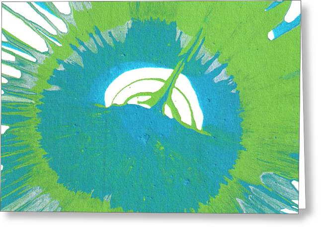 Spokes Paintings Greeting Cards - August Greeting Card by Gabe Arroyo
