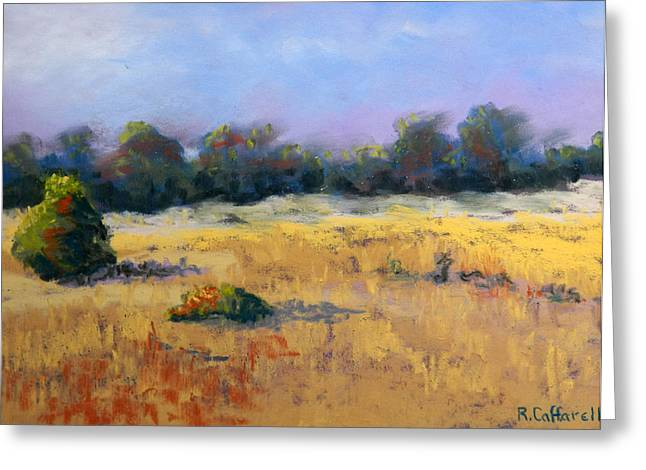 Oregon Pastels Greeting Cards - August Sun Greeting Card by Rosemarie Caffarelli
