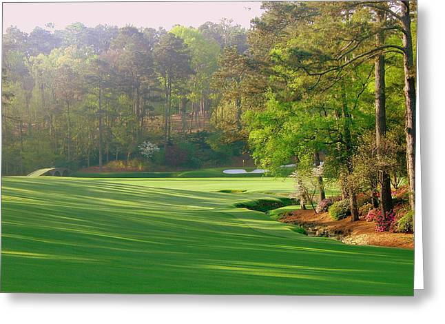Amen Greeting Cards - Augusta Hole 12 Greeting Card by Bo  Watson
