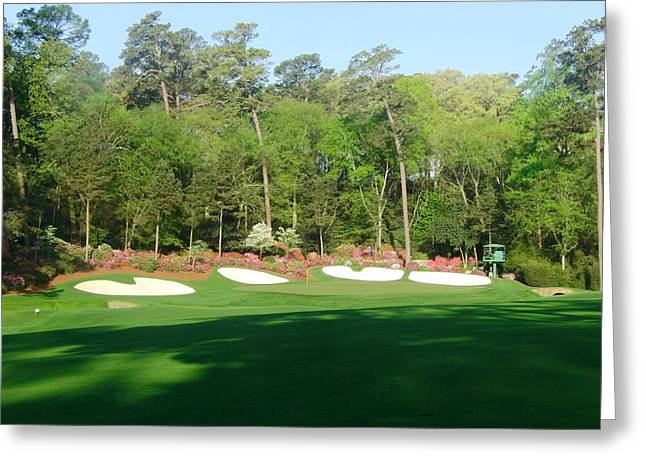 Amen Greeting Cards - Augusta National - Amen Corner Greeting Card by Bo  Watson