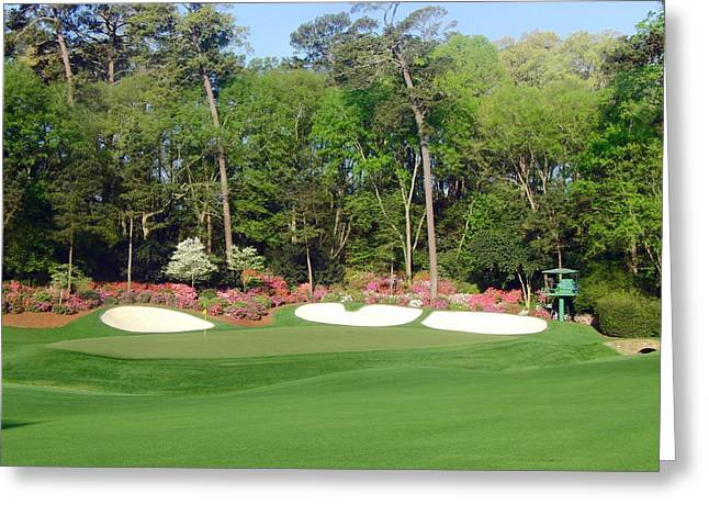 Amen Greeting Cards - Augusta National - Hole 13 Greeting Card by Bo  Watson