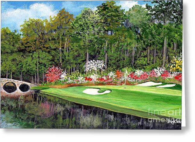 Hogan Bridge Greeting Cards - Augusta12 Greeting Card by Joe DeKleva