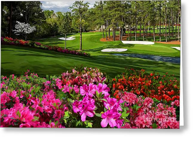 Augusta Azaleas 16th And 6th Greeting Card by Tim Gilliland