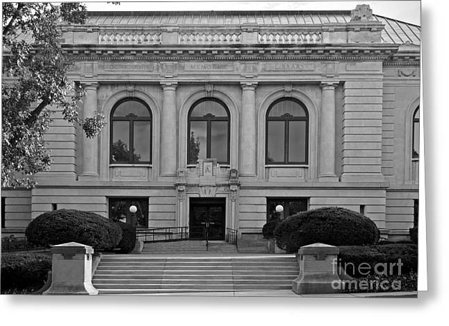 Rock Island Greeting Cards - Augustana College Denkmann Memorial Hall Greeting Card by University Icons