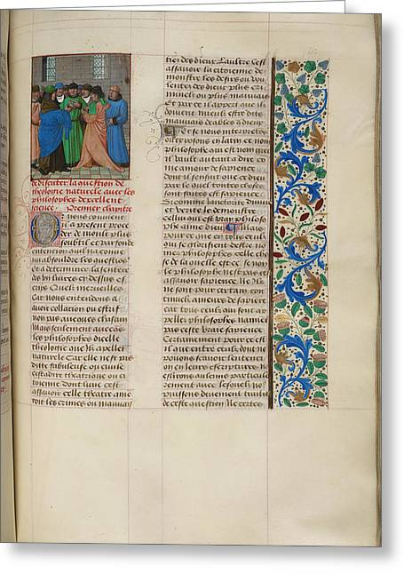 Augustine's 'city Of God' Greeting Card by British Library
