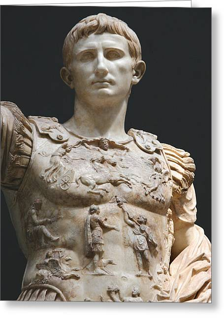 Augustus Greeting Cards - Augustus Prima Porta. Vatican Museums Greeting Card by Bridgeman Images
