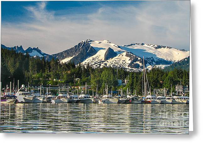 Southeast Alaska Greeting Cards - Auke Bay Greeting Card by Robert Bales