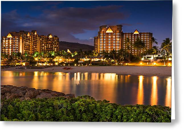 Koolina Greeting Cards - Aulani Disney Resort at Ko Olina Greeting Card by Tin Lung Chao