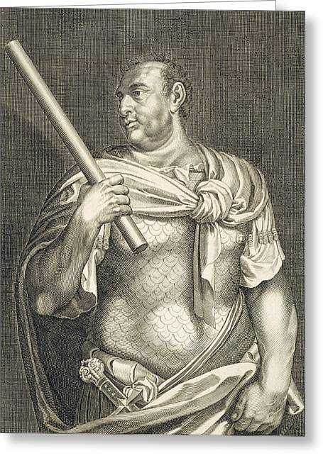Nero Greeting Cards - Aullus Vitellius Emperor of Rome Greeting Card by Titian