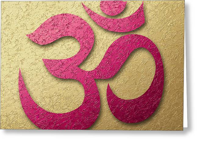 Aum Or Om Symbol Greeting Card by Cristina-Velina Ion