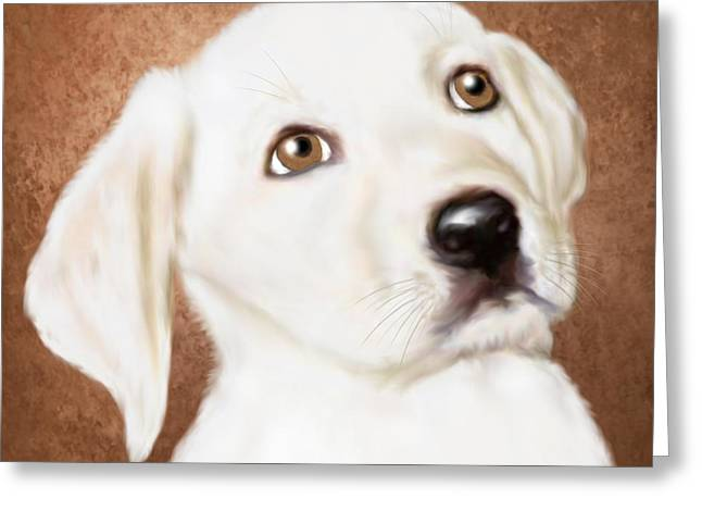 Recently Sold -  - Puppy Digital Art Greeting Cards - Aunt Baby - Love at First Sight  Greeting Card by Sannel Larson