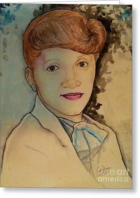 People Greeting Cards - Aunt E. Harris Greeting Card by Art Johnson