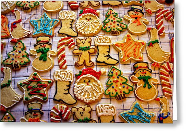 Aunt Tc's Christmas Cookies Greeting Card by Mitch Shindelbower