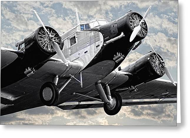 Ju 52 Greeting Cards - Auntie JU 52 Greeting Card by Joachim G Pinkawa