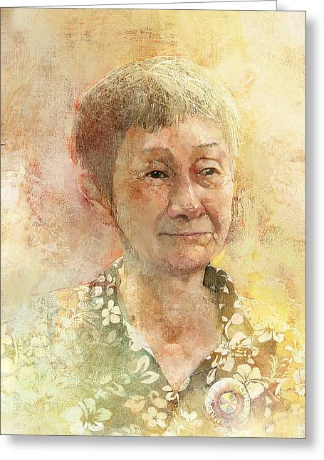 Opposition Digital Greeting Cards - Aunty Annie Greeting Card by Kean Foong Chong