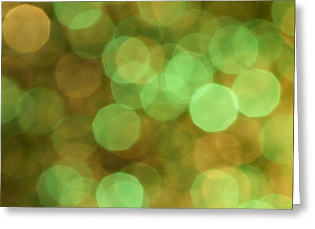 Defocused Greeting Cards - Aura Greeting Card by Jan Bickerton