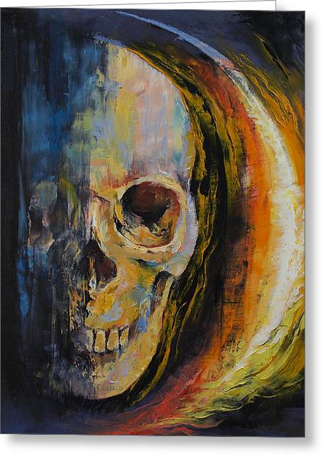 Aura Greeting Card by Michael Creese