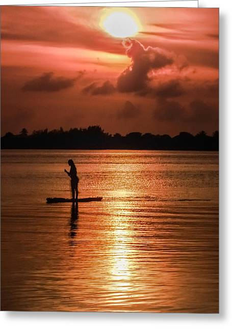 Saltlife Greeting Cards - AURA of a WOMAN Greeting Card by Karen Wiles