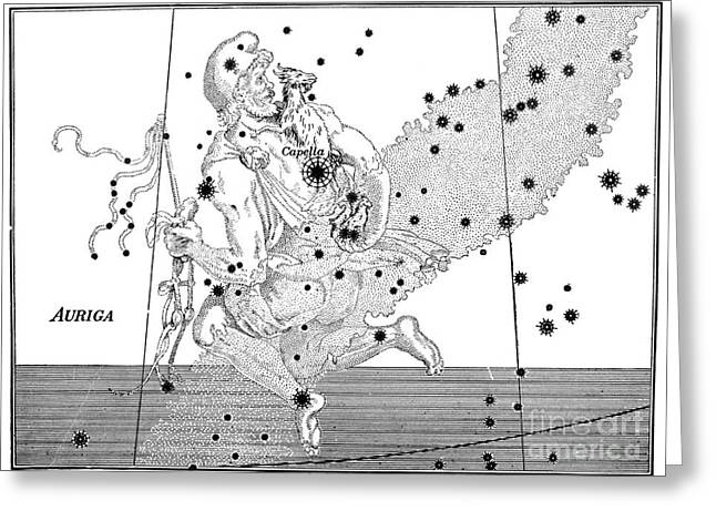 Asterism Greeting Cards - Auriga Constellation, Bayer, 1603 Greeting Card by Science Source