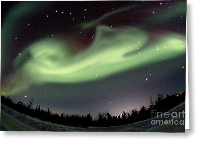 Arcturus Greeting Cards - Aurora Borealis Alaska 3212014 Greeting Card by John Chumack