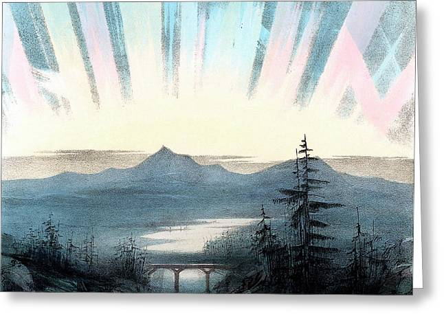 Aurora Borealis Or Northern Lights Greeting Card by Universal History Archive/uig