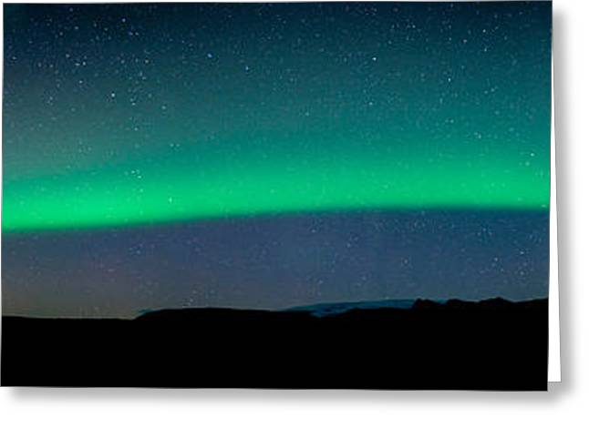 Surreal Photography Greeting Cards - Aurora Borealis Or Northern Lights, Vik Greeting Card by Panoramic Images